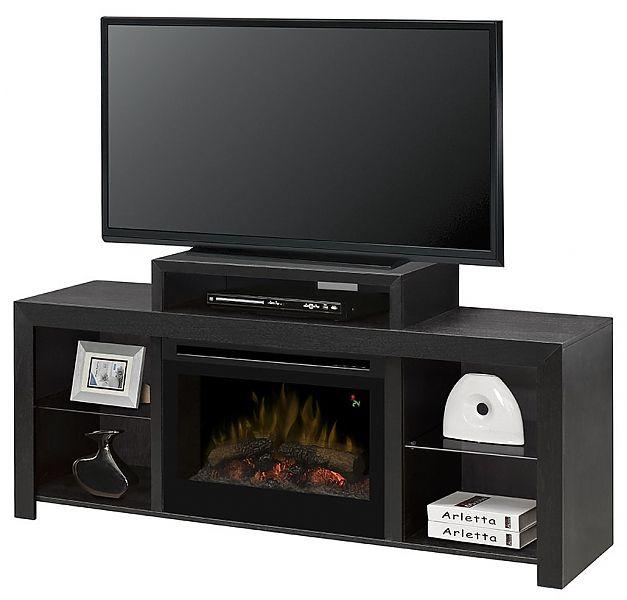 Dimplex Beasley Electric Fireplace Media Console Fireplace media center | seattleluxe.com