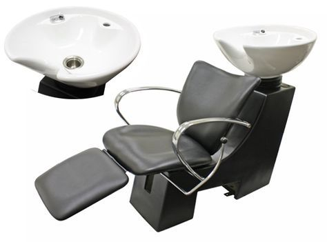 Awesome Shampoo Chair With Footrest Attachment And Bowl