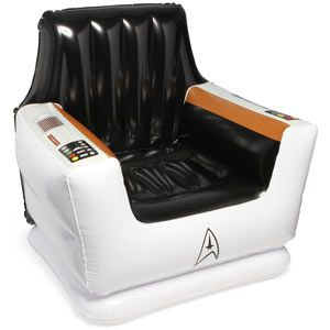 I want this so bad....Inflatable Stars, Geek, Stuff, Inflatable Captain, Trek Inflatable, Captain Chairs, Stars Trek, Startrek, Star Trek