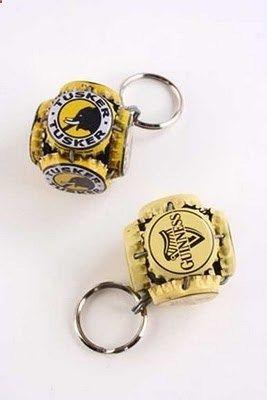 Bottle Cap Keychains