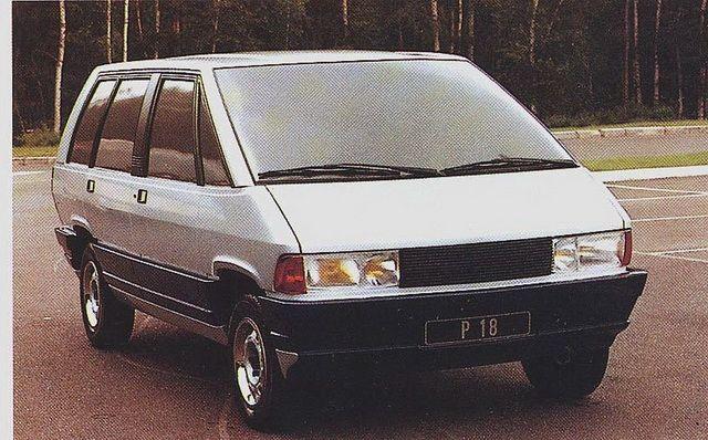 Matra P18 sur base Peugeot (futur Renault Espace), Avril 1981.