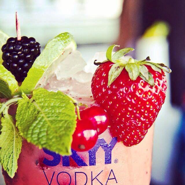 Strawberry and blueberry drink Singita - Fregene Italy, Rome