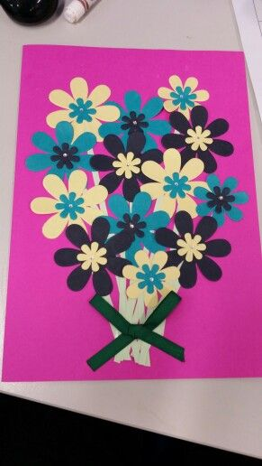 Use of flowers and ribbon. Great for a  birthday, celebration, good luck etc.