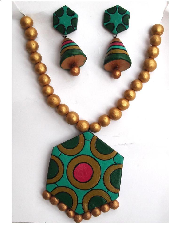 #Terracotta #Neckless #Jewellery Set  #craftshopsindia