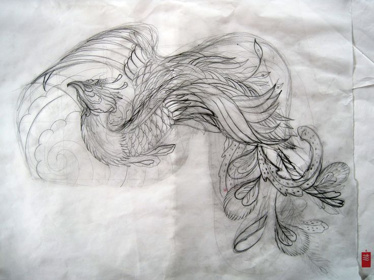 Phoenix Tattoo Design Tattoos Charcoal Drawings Custom