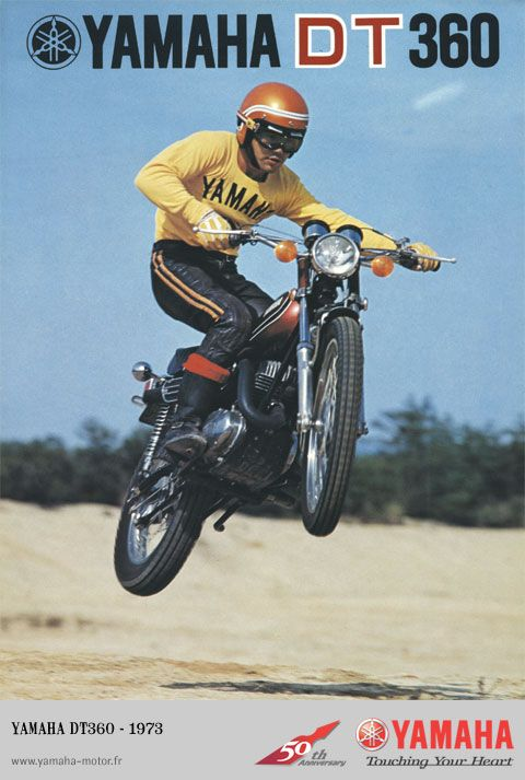 Old Yamaha DT360 Motorcycle Ad