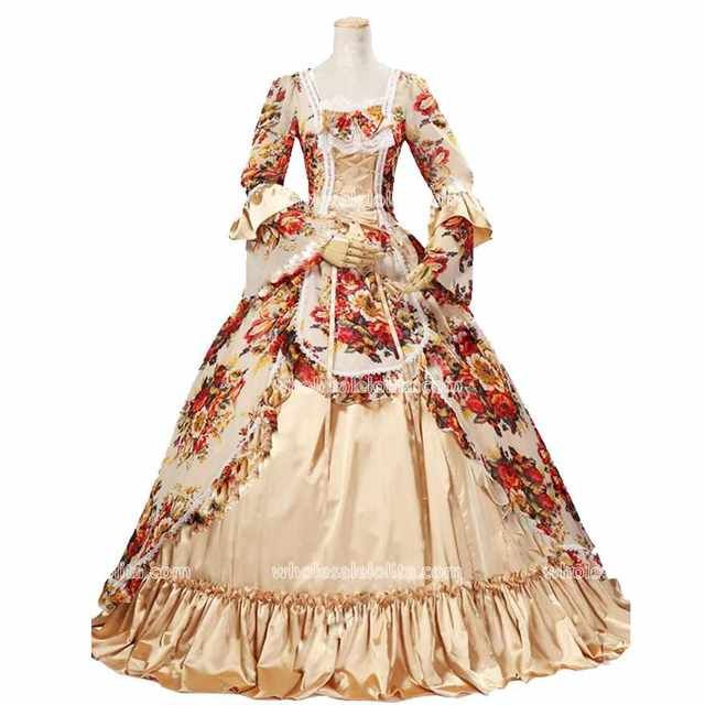 Online Shop Best Seller Rococo Style Vintage 18th Century Marie Antoinette Dress Princess Dresses Ball Gow Victorian Ball Gowns Rococo Dress Historical Dresses