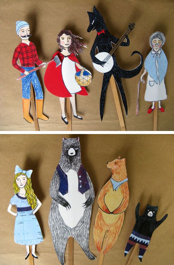 Tales puppet set in Entertainment, books and tales for babies and kids