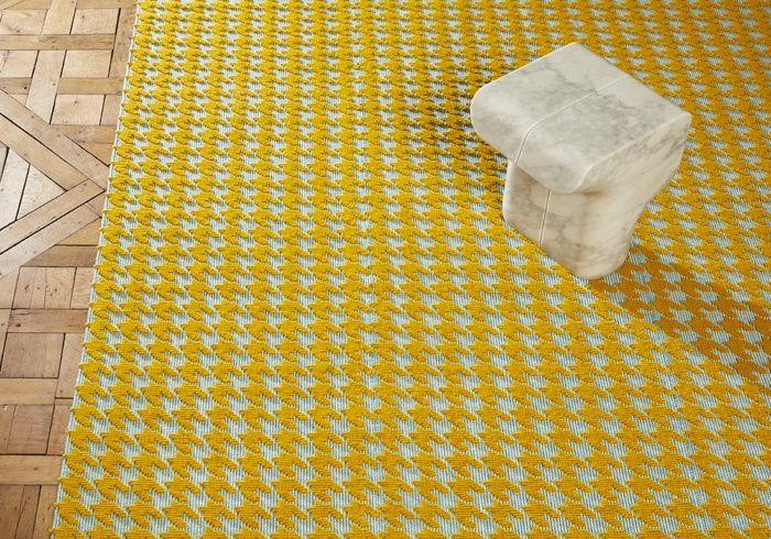 Deco jaune: la nouvelle tendance Tapis Isotopie (Manufacture Cogolin)