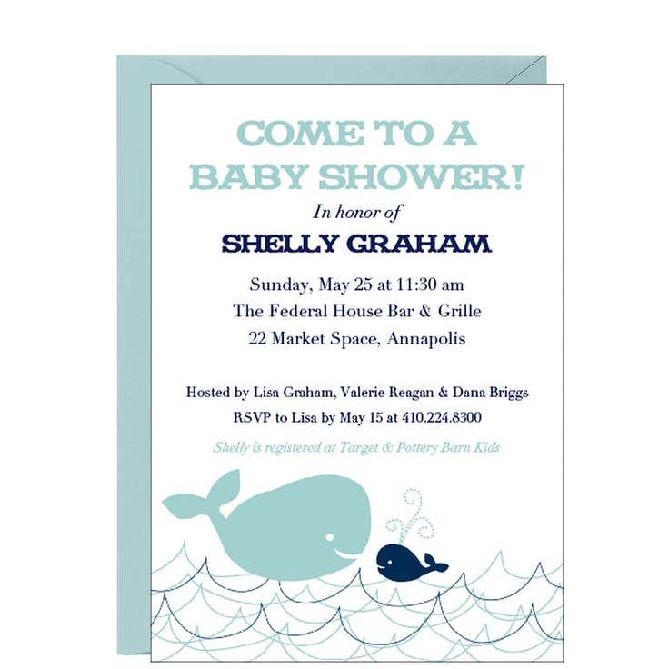 whales baby shower invitation pinterest