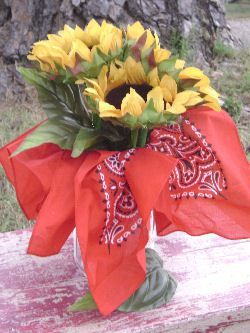 I've had a lot of searches lately for western party theme ideas. Here are some fun links to websites with people much more creative and crafty than me who whipped up some fun centerpiece idea…