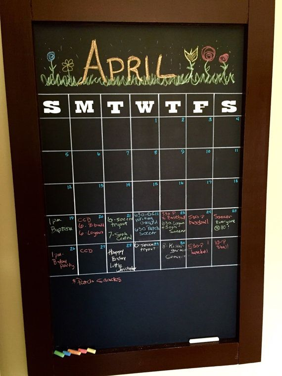 1000 images about chalkboard calendar spring march april may on pinterest happy spring