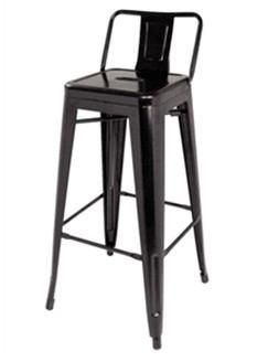 Bistro Steel High Stool 750 with Backrest