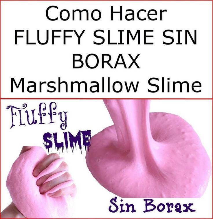 Como hacer FLUFFY SLIME SIN BORAX Marshmallow Slime