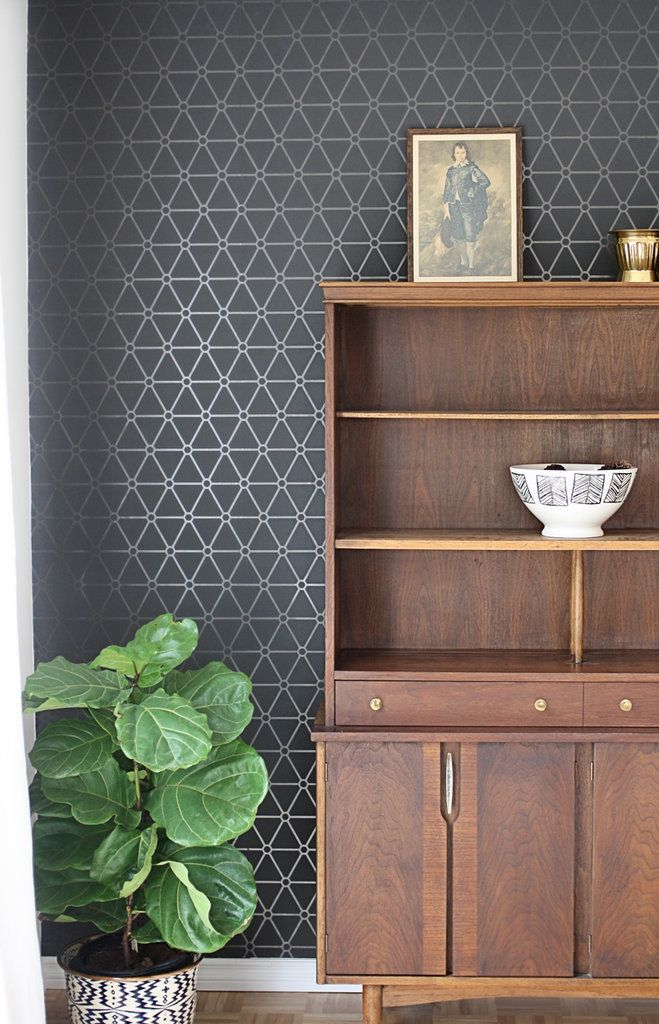 The 10 Commandments of Rental Decor: Thou Shalt Avoid Wallpaper. Sure it's stylish, but wallpaper is inconvenient to remove. If you love the patterned look, consider the removable wallpaper seen in this studio or these alternative wallpaper ideas.