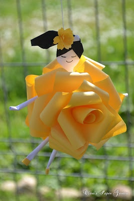 Clara's Paper Garden: (22) - Sakuradama and Rose Fairy by Cridiana Cluj-Napoca of Romania