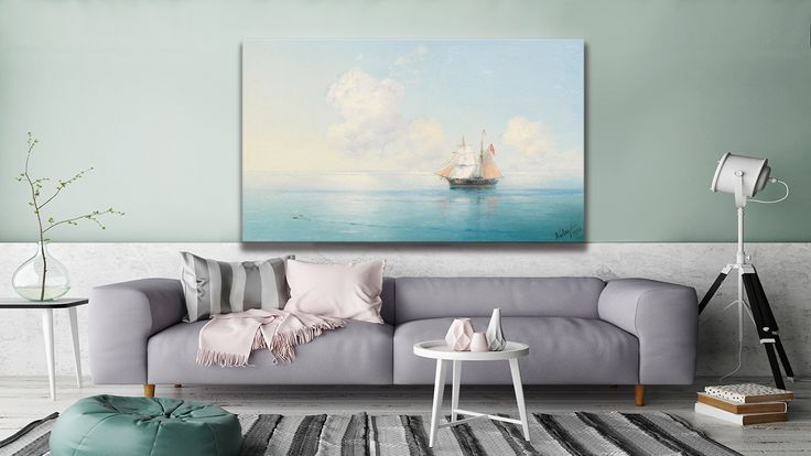 "This canvas in ""Calm Morning at Sea"" by Ivan Aivazovsky, and you can find it at #thecanvasartfactory"