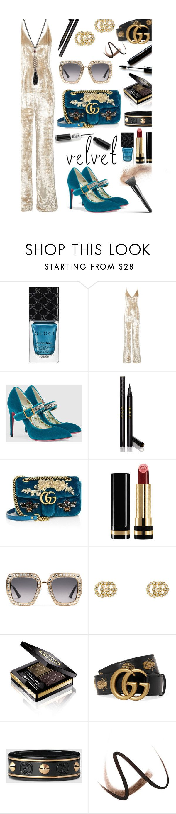 """""""Velvet Crush"""" by mia-christine ❤ liked on Polyvore featuring Gucci, Gabriela Hearst, Dolce&Gabbana, Burberry, Jade Jagger and velvet"""