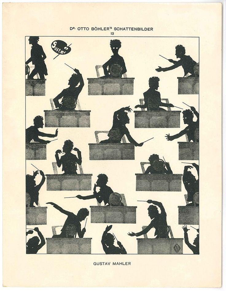 Gustav Mahler silhouette Otto Böhler - Gustav Mahler – Wikipedia