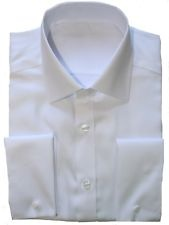 Ex Store White Non Iron Double Cuff Cotton Shirt 17.5 and 18. For Simon and Gaz.