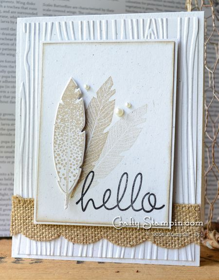 Hello Four Feathers by Linda Craftystampin