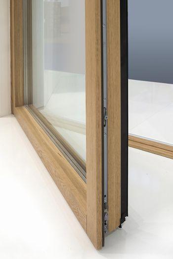 Finestre e portefinestre in alluminio e legno MinimalWood by De Carlo