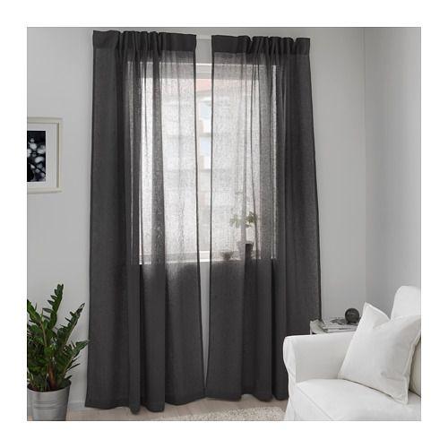 Nice LEJONGAP Curtains pair dark gray dark gray x