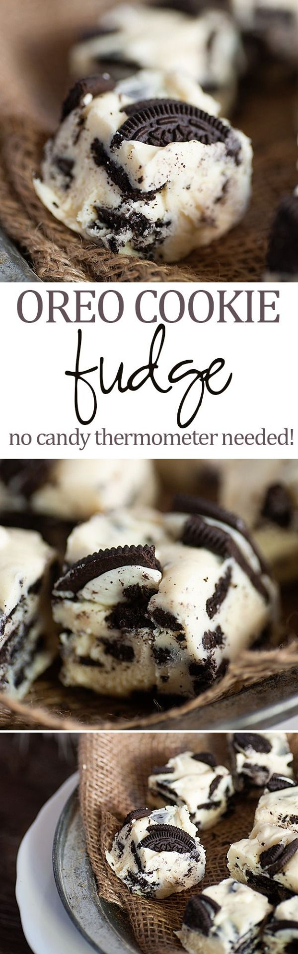 Easy 5 ingredient Oreo fudge recipe! Perfect for your Christmas cookie and candy tray!View The Recipe Details