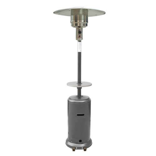 AZ Patio Heaters 87 Hammered Silver Patio Heater With Table