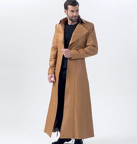 M7374, Collared and Seamed Coats