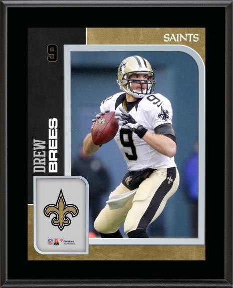 2866c2d94f2 Drew Brees New Orleans Saints 10.5   x 13   Sublimated Player Plaque ...