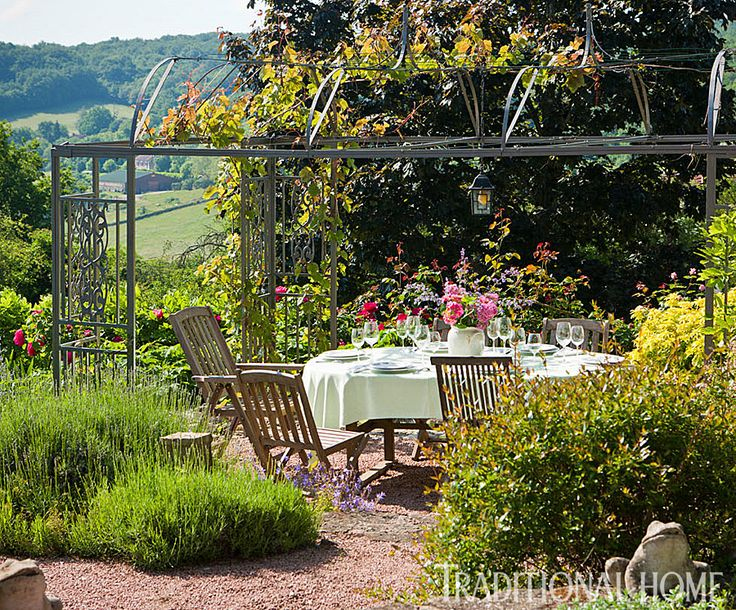 British garden in the french countryside traditional for French countryside homes