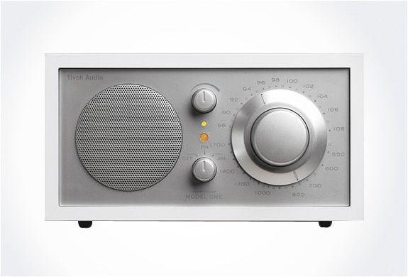 TIVOLI RADIO MODEL ONE. This little radio puts out gorgeous sound and has elegant design.