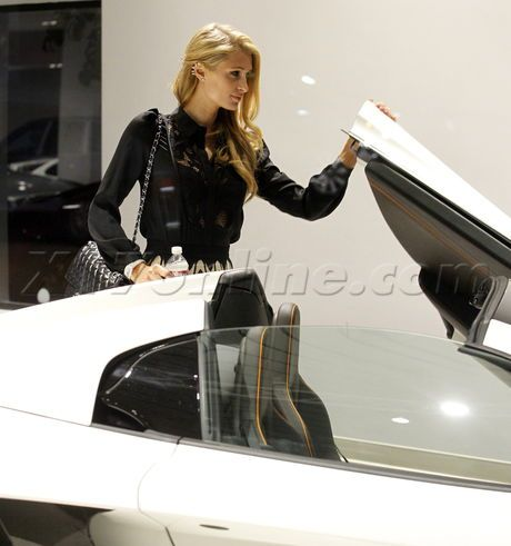 Paris Hilton McLaren sports car