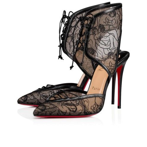 78ba62fc28a Christian Louboutin | Shoes in 2019 | Lace heels, Christian ...