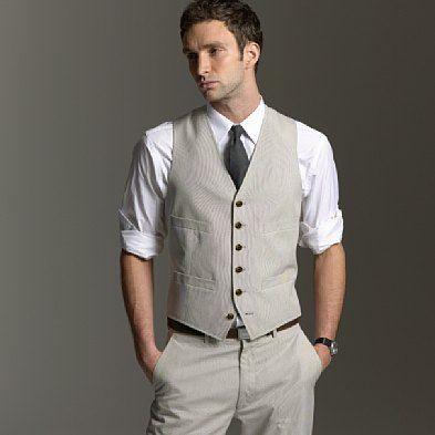 Evening dress casual vest