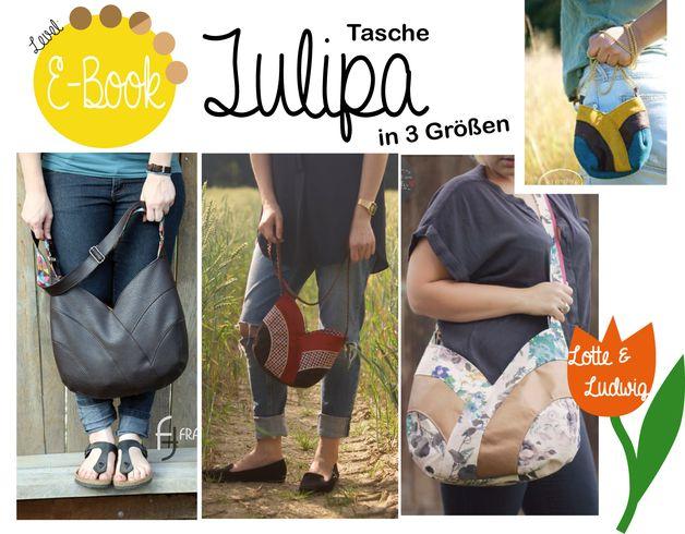 """E-Book """"Tulipa"""" Mehrgrößenschnitt und ausführlich bebilderte Nähanleitung   3 Größen (Shopper, Handtasche, Minitasche)  oooooooooooooooooooooooooooooooooooooooo  Tulipa ist ein einzigartiger..."""