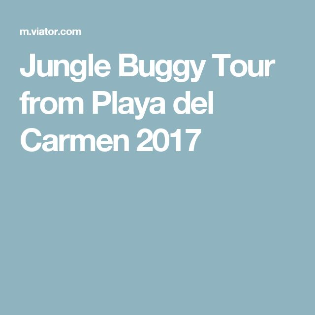 Jungle Buggy Tour from Playa del Carmen 2017