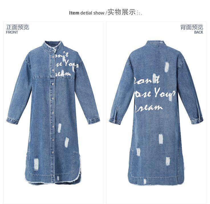 Продажа Yurakucho 2016 весной новые женские джинсовые рубашки печати больше раздел Корейский свободную рубашку куртка женская Lynx -tmall.com