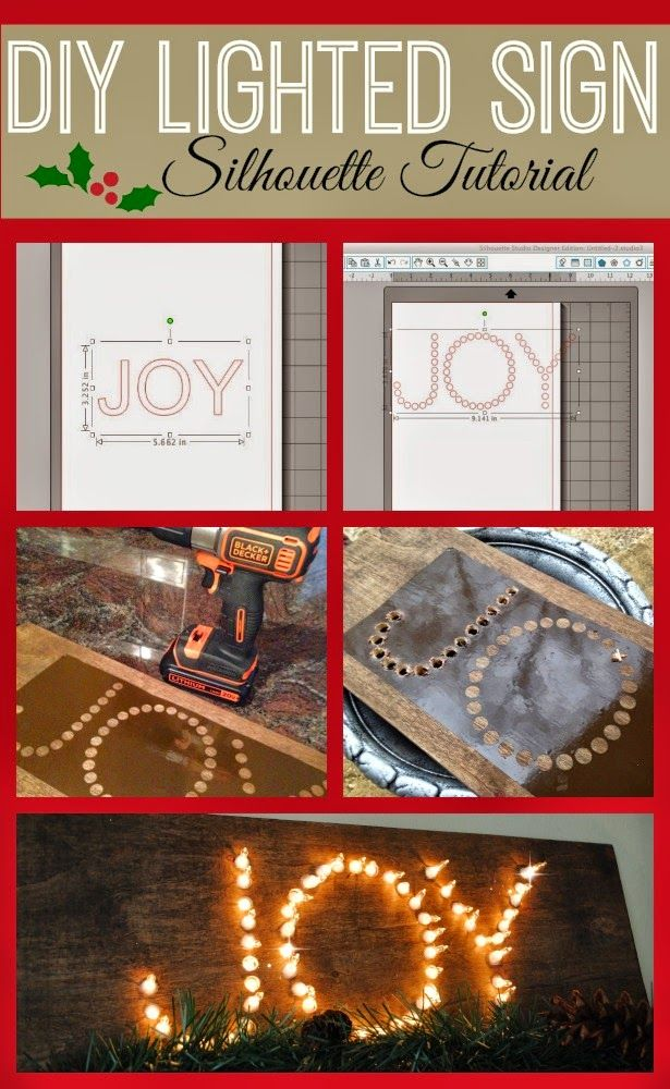 Silhouette School: DIY Lighted Sign with Silhouette Tutorial
