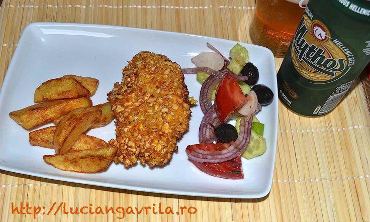 #turkey breast in corn flakes Piept de #curcan în crustă de fulgi de porumb