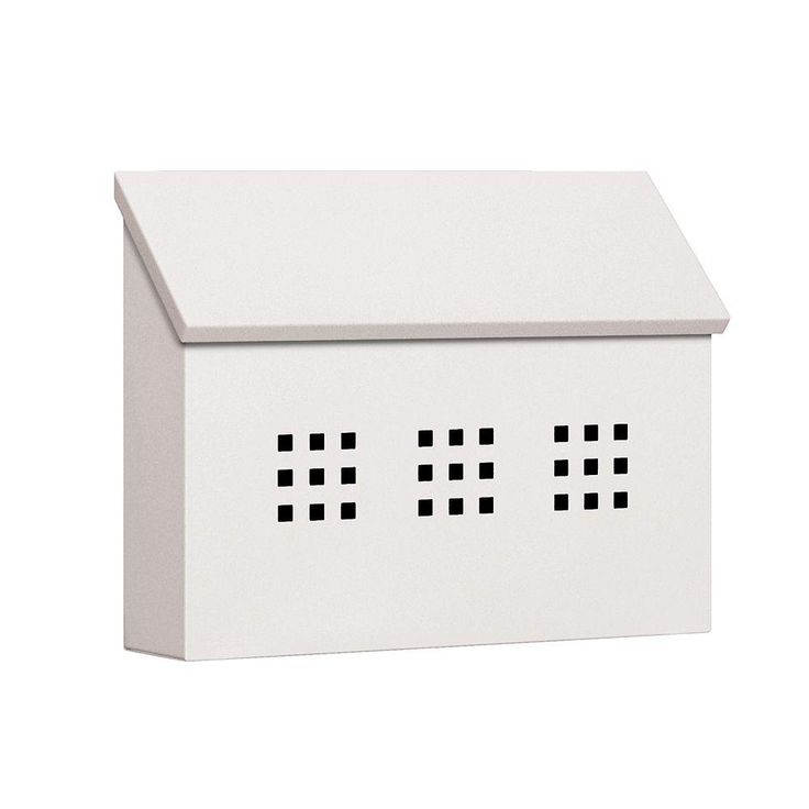 Salsbury Industries 4600 Series Decorative Horizontal Style Traditional Mailbox in White-4615WHT at The Home Depot