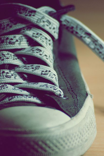 These are sooo awesome! Music note laces