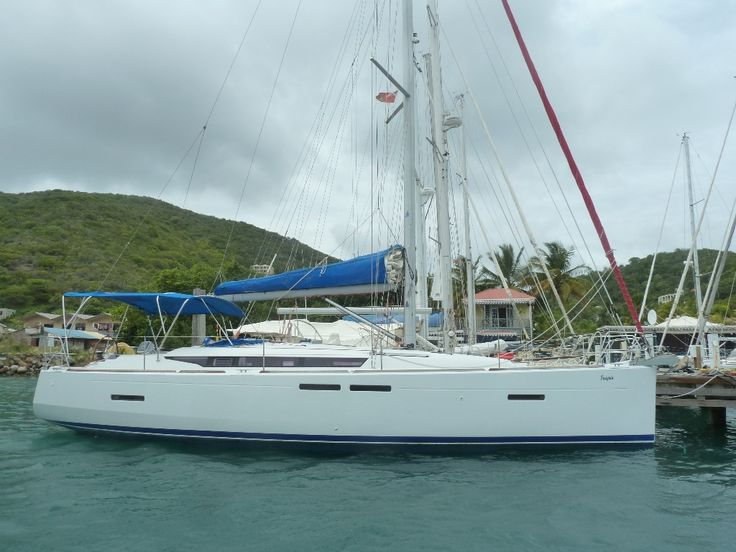 40 'Jeanneau Sun Odyssey 409, 201.  Asking $119,000 clive@bviyachtsales.com Jeanneau 409, 3 cabin, 2 head layout that was previously in the Moorings/ Sunsail fleet. Her current owner always dreamt of a sabbatical sailing both the Windward and Leeward Caribbean islands and that's just what he and his family have done.  Fully 'phased out' vessel, finished to a very high level. So there is solar, 6 month old dink, o/b.