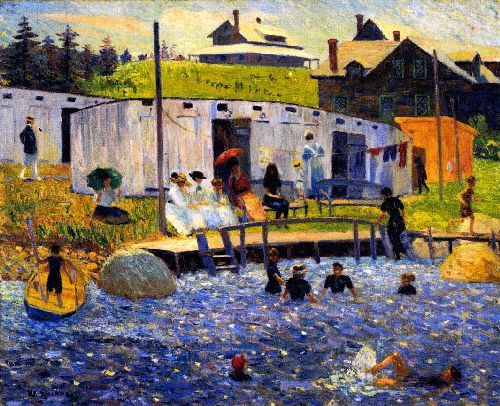 william james glackens - the bathing hour, chester, nova scotia - Google Search