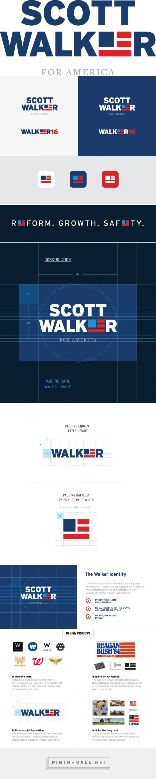 New Logo for Scott Walker done In-house - probably the best of the candidates logos that I've seen so far.