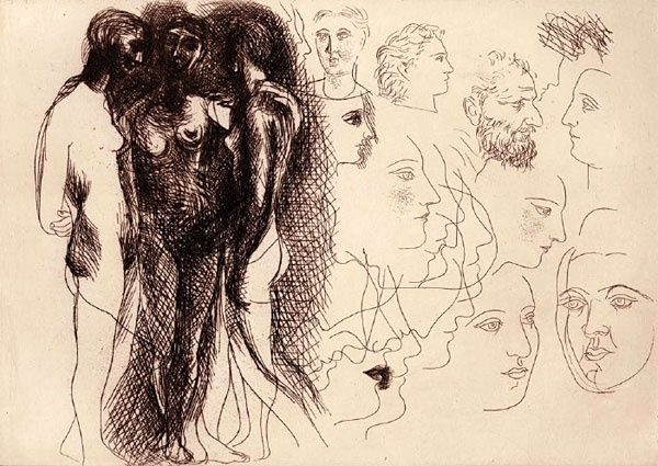 Les Trois Femmes (The Three Women)  Pablo Picasso,  Etching