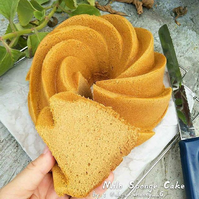 Milo Sponge Cake By Dapur Shanty 6 Sorce Ce Lysa Tangkulung Bahan 6 Butir Telor Me 7butir Karna Telur Nya Kecil 1 Sdm Elm Snacks Snack Recipes Food