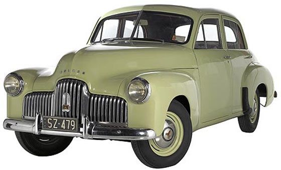 """1948 FX Holden, a popular Australian family car back in the day, I had one just like this but it was sadly my first experience of having a car accident and the front was banged up a bit so we, my panel beating friend and I, decided to replace the  vertical grille with the much more horizontal """"FJ"""" model, it turned out very well too."""