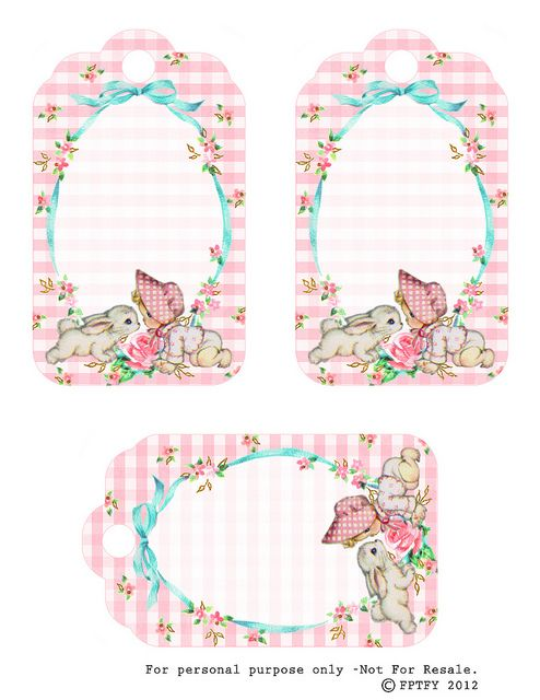 Free Vintage Baby Girl Tags by FPTFY by Free Pretty Things For You!